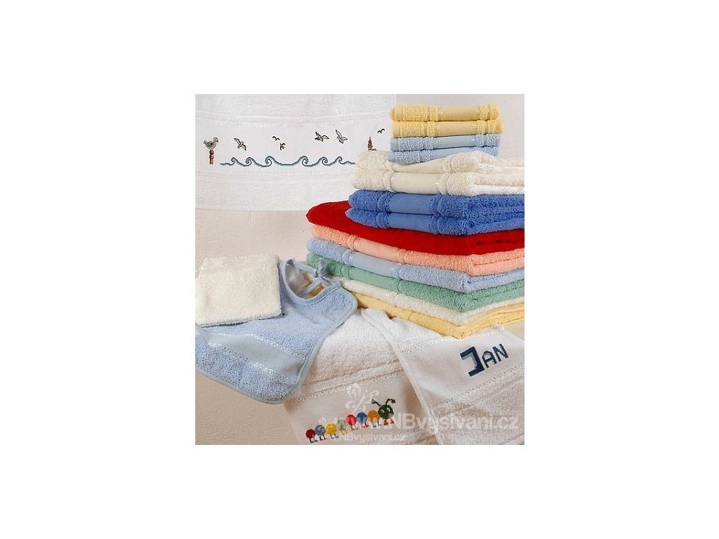 HOF9171-41 Froté ručník k vyšití -modrý (50x100cm)