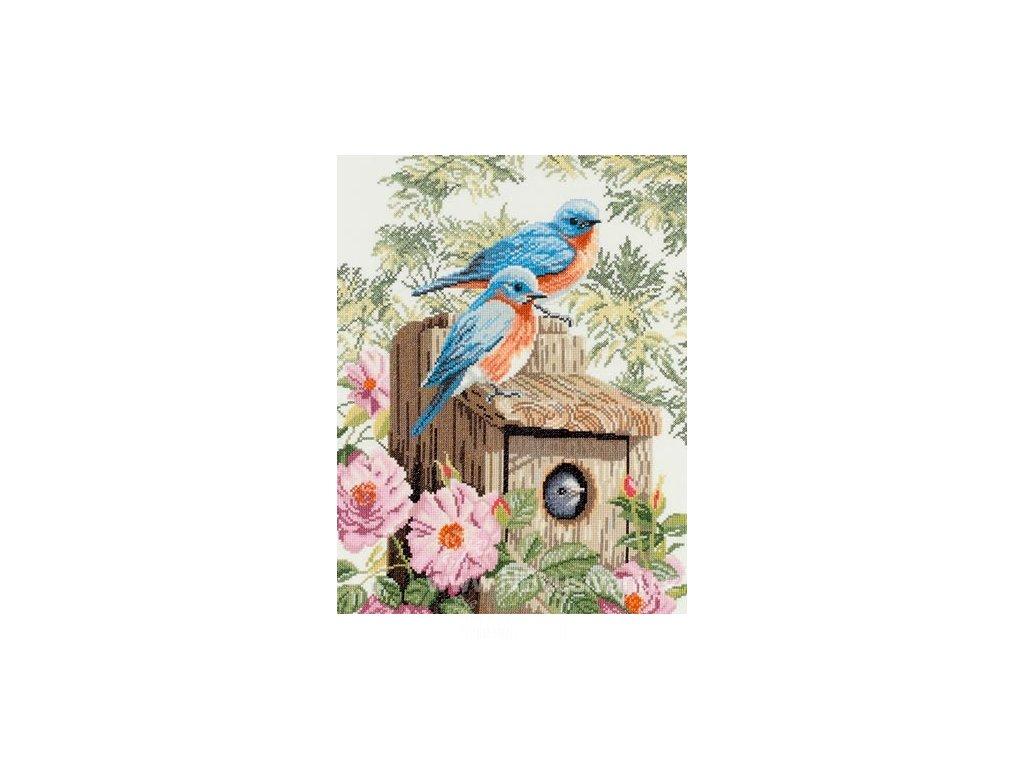 L-PN0008325(35145A) Modří ptáčci v zahradě (Aida)