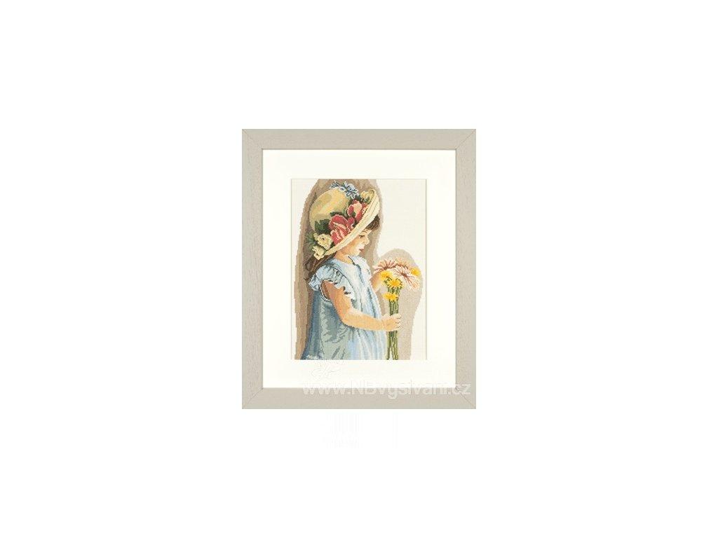 L35122 Děvčátko s květinovým kloboučkem (doprodej)