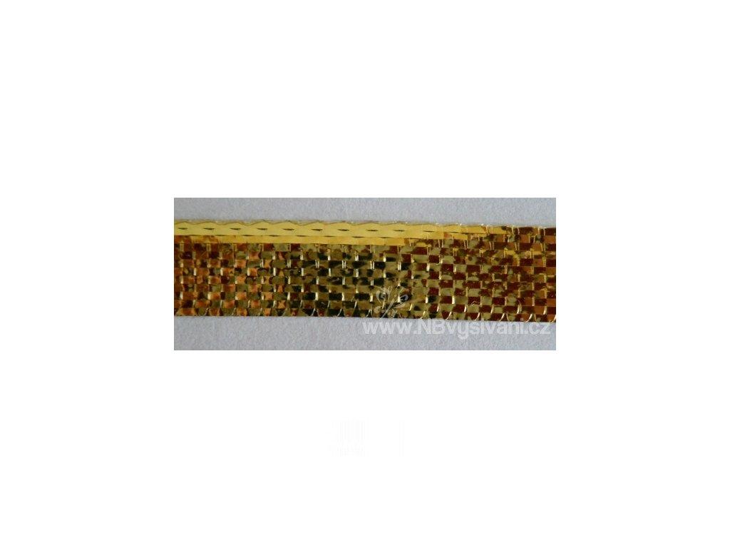 V28079 Lámová stuha 1cm zlatá (25m)