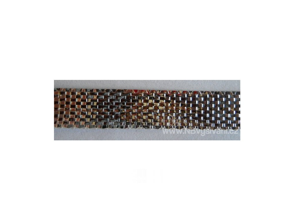 V28087 Lámová stuha 1cm stříbrná (25m)