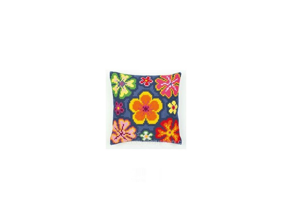 VE1200-117 Polštář s pestrobarevnými květy