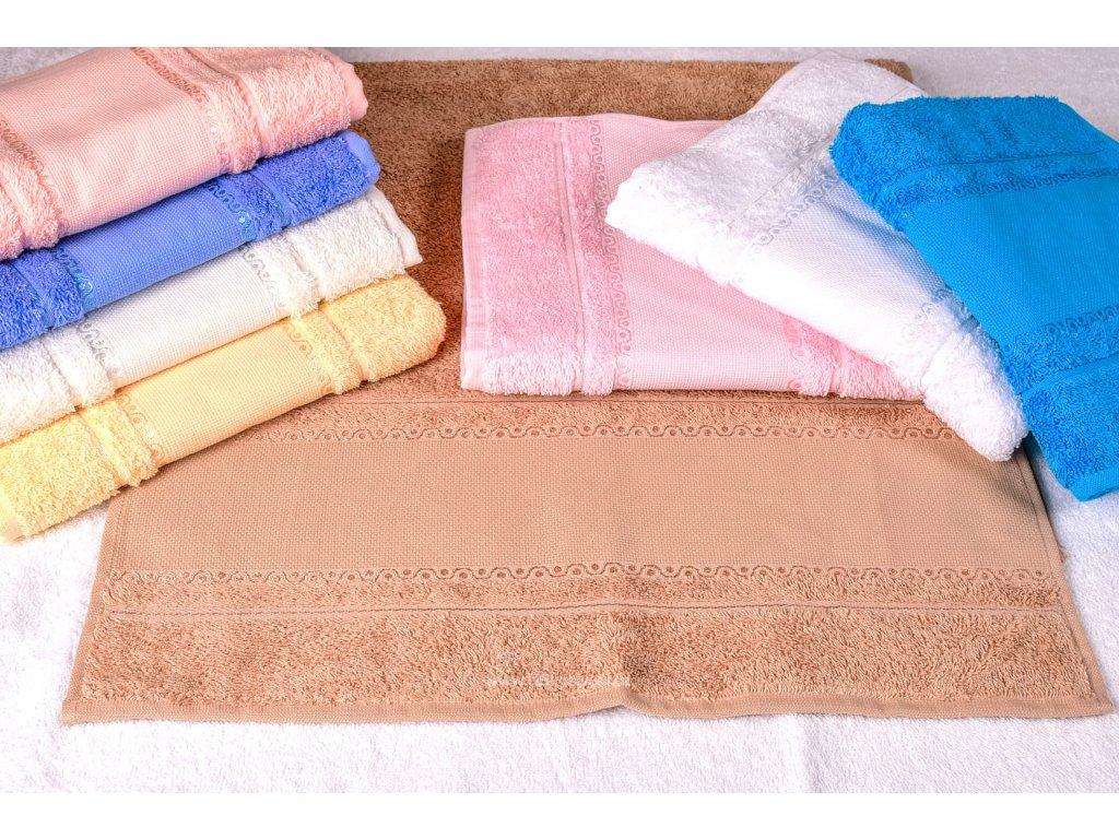 HOF9171-33 Froté ručník k vyšití - červený (50x100cm)