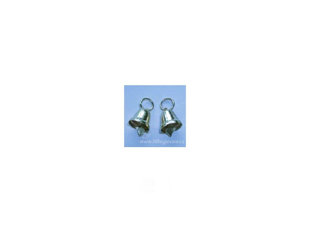 V88534 Zvoneček kovový stříbrný 12mm (1ks)