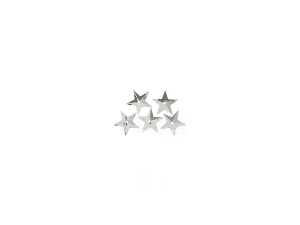 N-10035-19 Flitry - Hvězdy stříbrné 18mm (50ks)