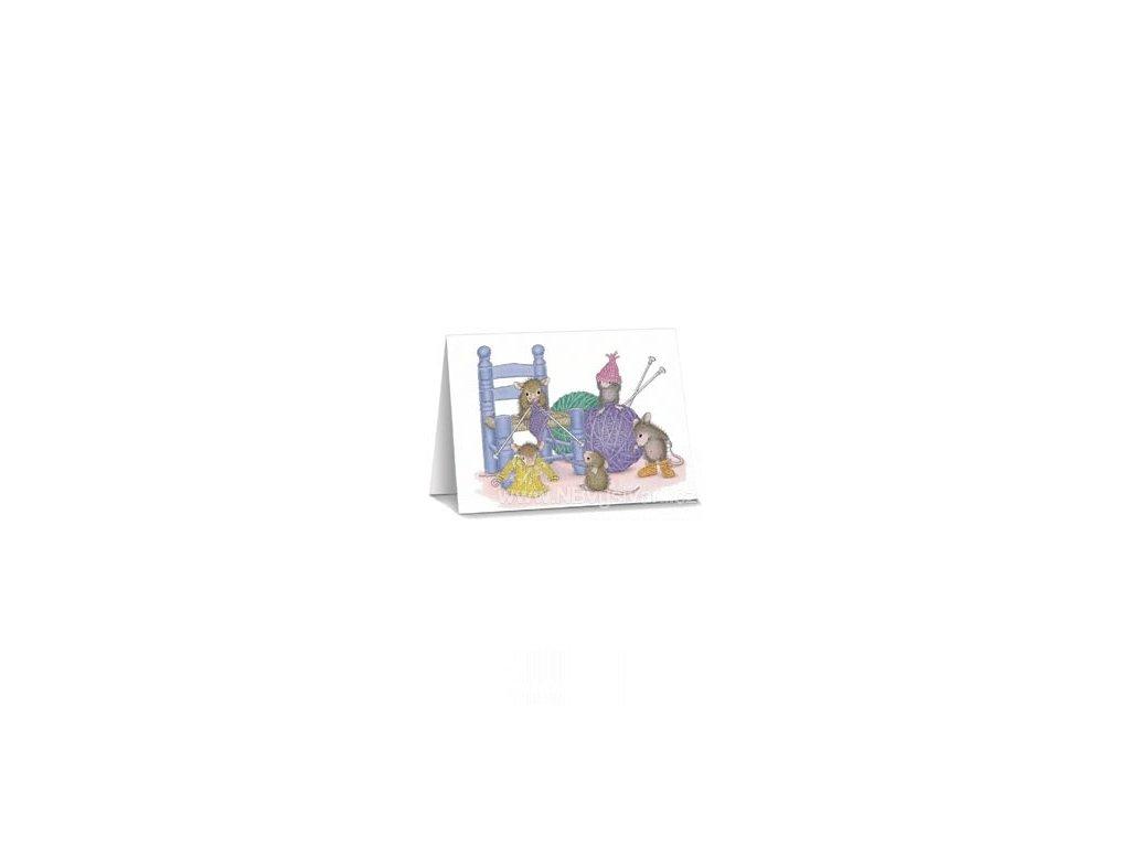 N2007-5B  Předtištěné papírové přání pro pletařky