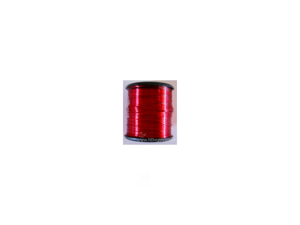V88521 Drátek bižuterní cívka  - tmavě růžová (7m)