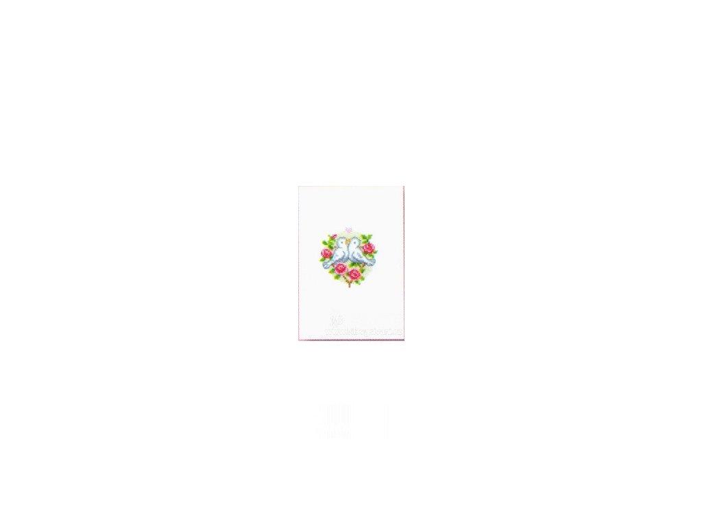VE-PN0143923 Svatební přání - holubičky