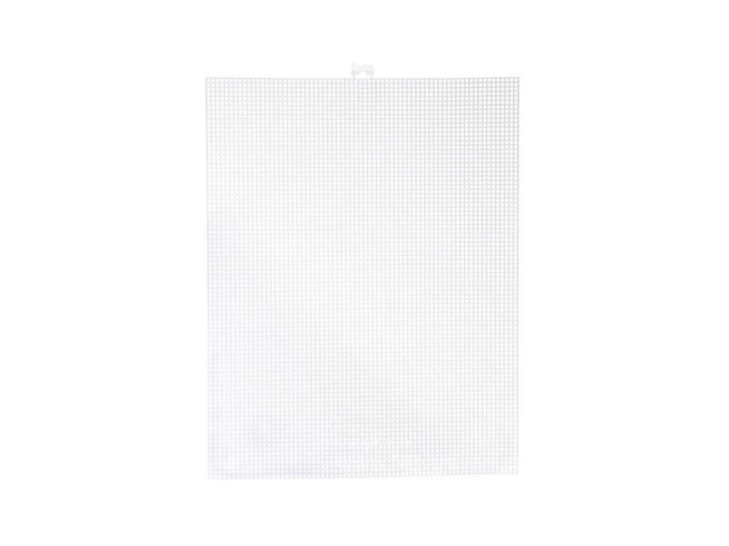 D33900-2 Plastová Aida 7ct - White (34x27cm)
