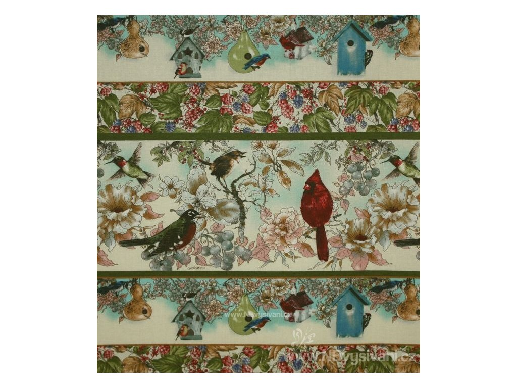 PF12-6564 Friends of Feather - panel (21x110cm)