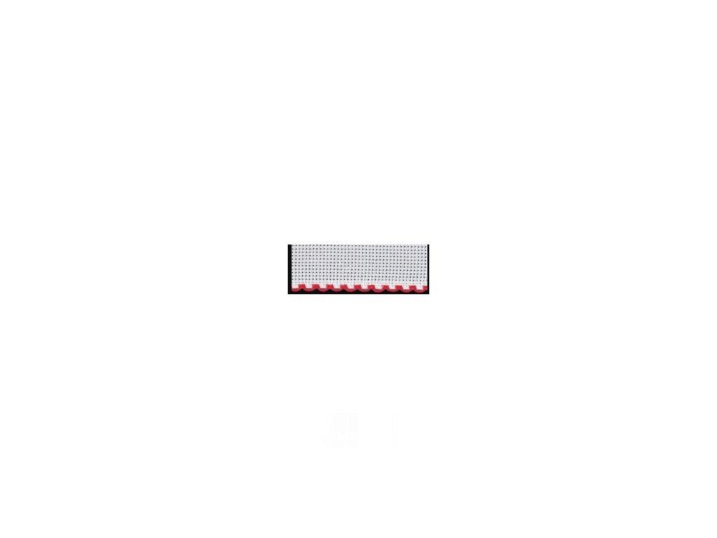 ZW7195-19 Vyšívací stuha - červený okraj š.10cm (50cm)