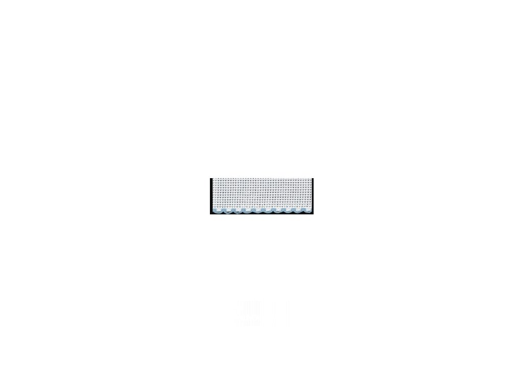 ZW7195-151 Vyšívací stuha - sv. modrý okraj š.10cm (50cm)