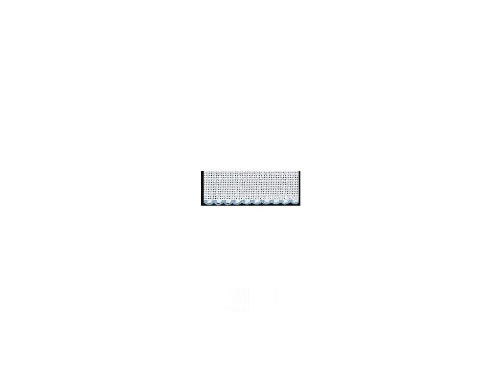 ZW7195-151 Vyšívací stuha - sv. modrý okraj š.10cm (1m)