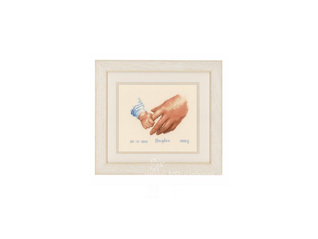 VE-PN0145023 Narozeninový sampler - ruce (modré i růžové provedení)