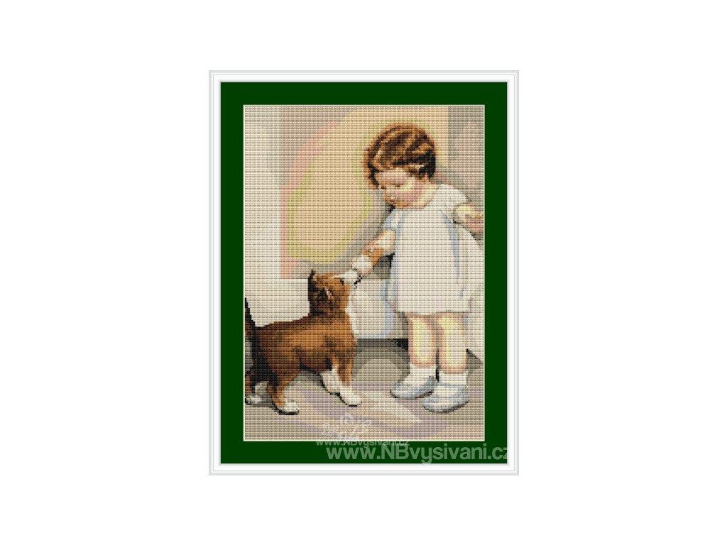 LUC-B372 Děvčátko a malý psík