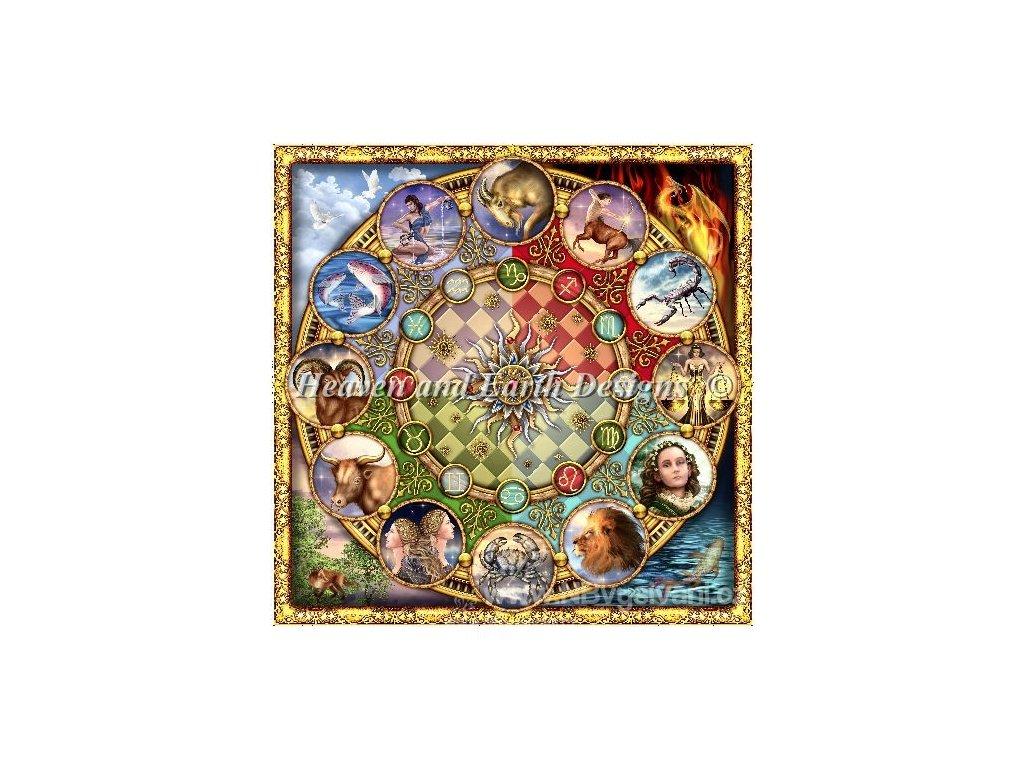 HAED - Zodiac Mandala (Aida 18ct)