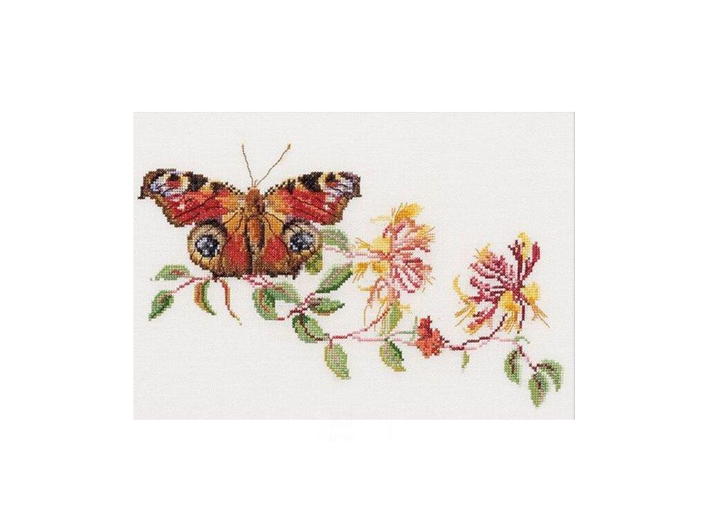 THG-439A Motýlek na kvetoucí větvičce (Aida)