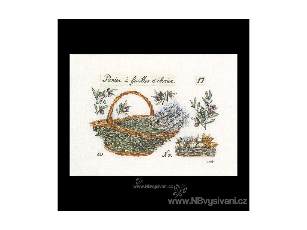 THG-2098A Košík s levandulí a olivami (Aida)