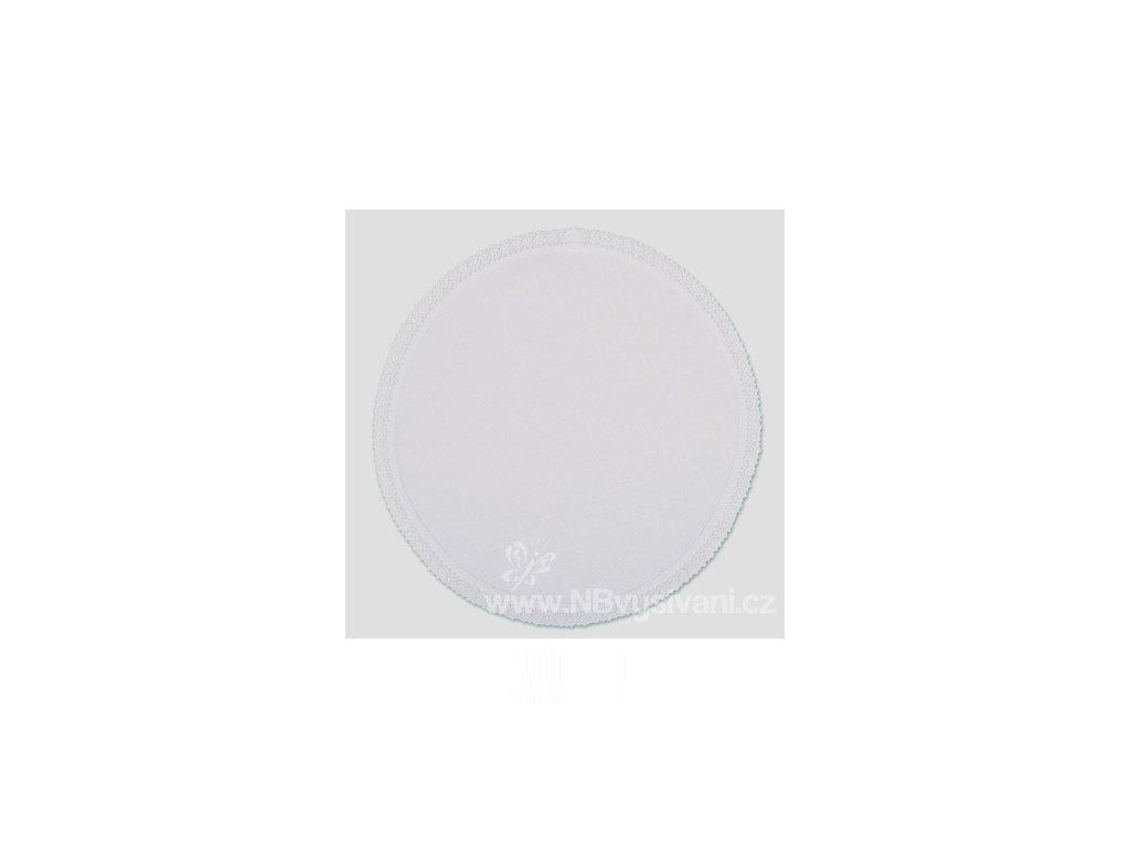 RICO-16176.59.41 Dečka bílá s krajkou (30cm)
