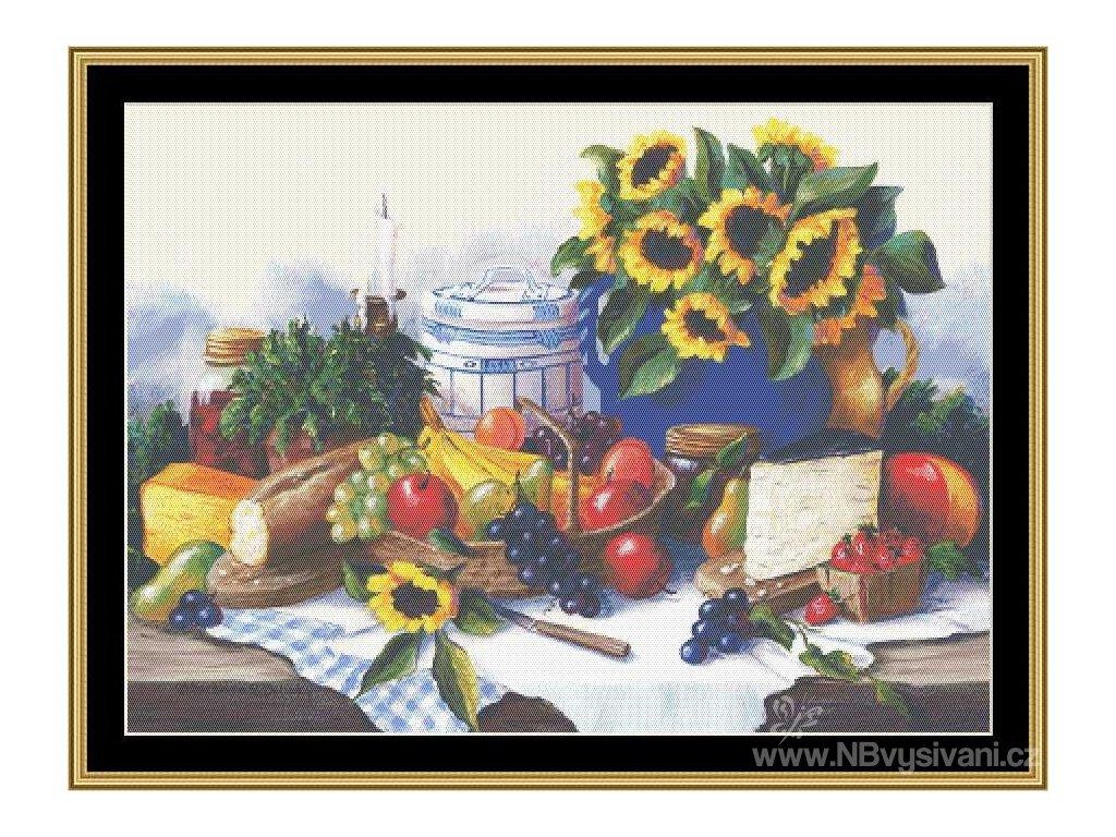 MS-BF125 Sunflower & Fruit (předloha)