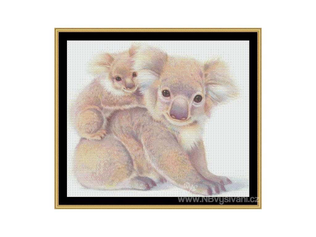MS-JOBUT05 Koala Bear & Cub (Aida 18ct)