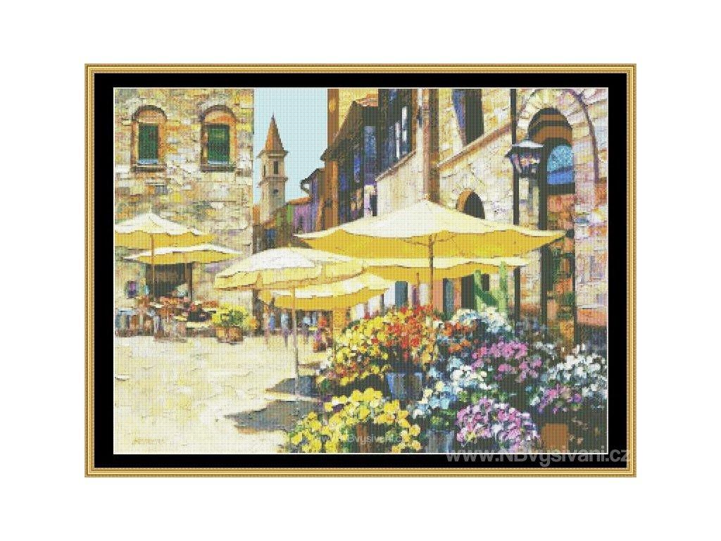 MS-HOBE14 Sienna Flower Market (Aida 18ct)