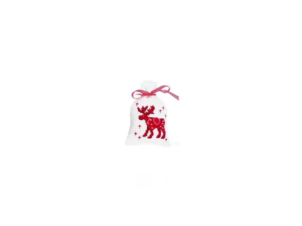 VE-PN0145607 Dekorační vánoční sáček - sob