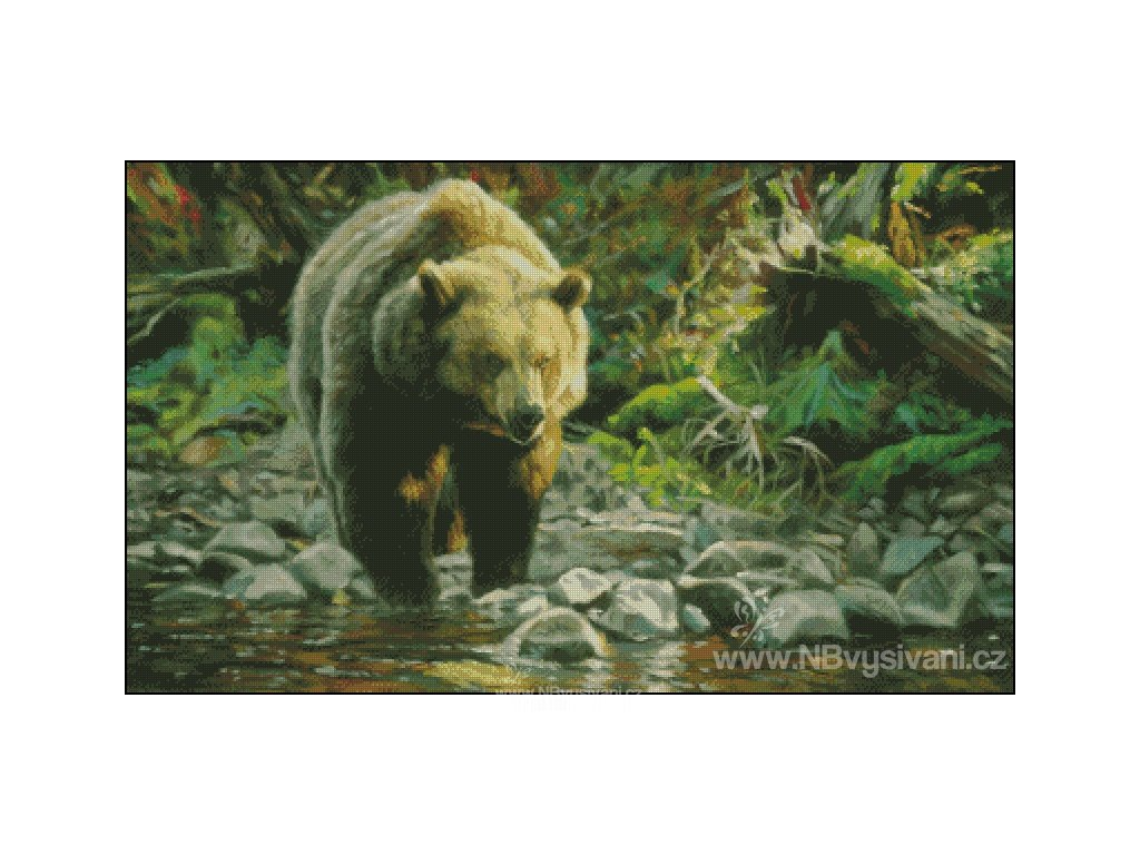 Soda Butte Grizzly (Aida 18ct)