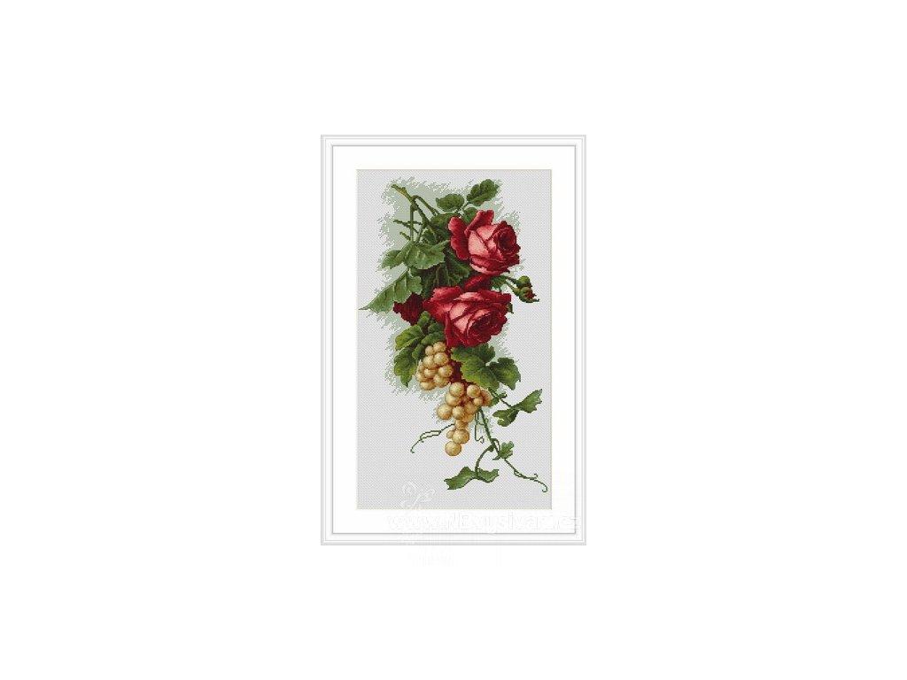 LUC-B2229 Květinová kompozice s růžemi