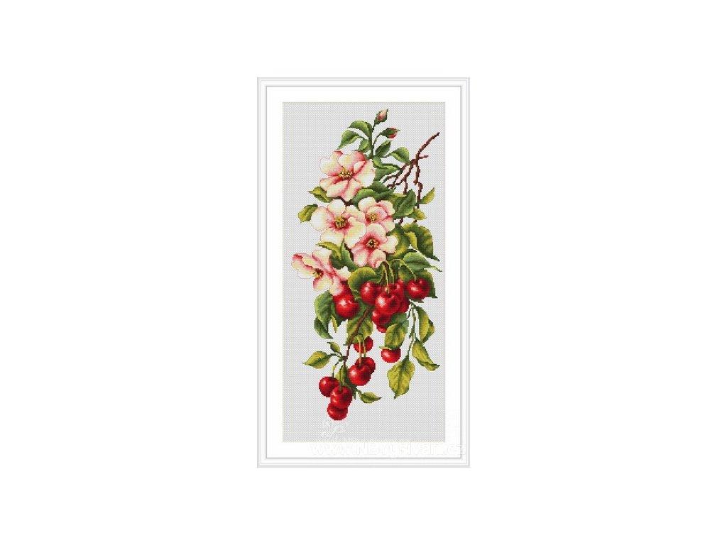 LUC-B205 Květinová kompozice s třešněmi