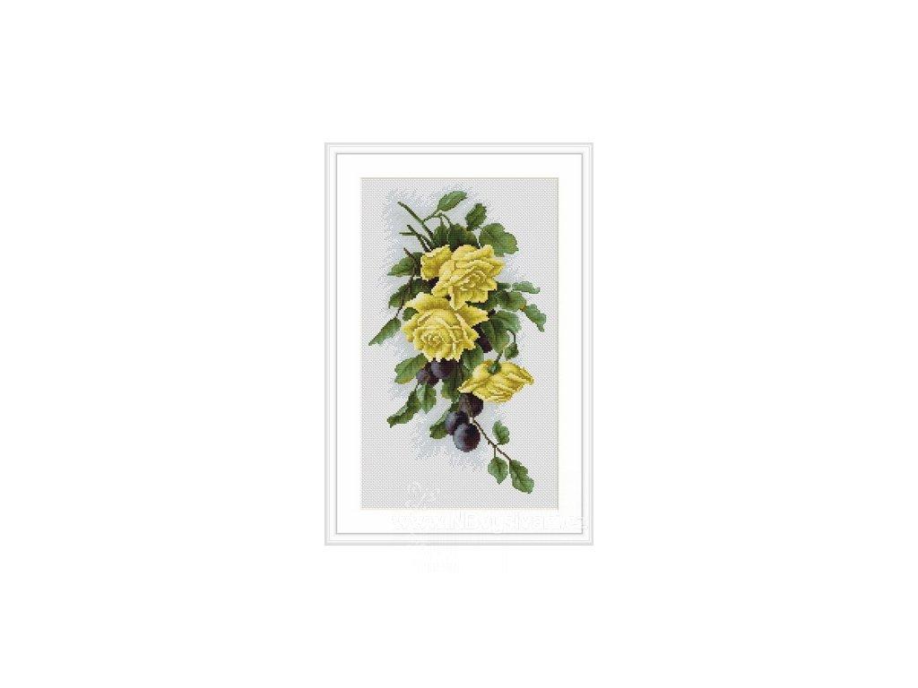 LUC-B2230 Květinová kompozice s čajovou růží