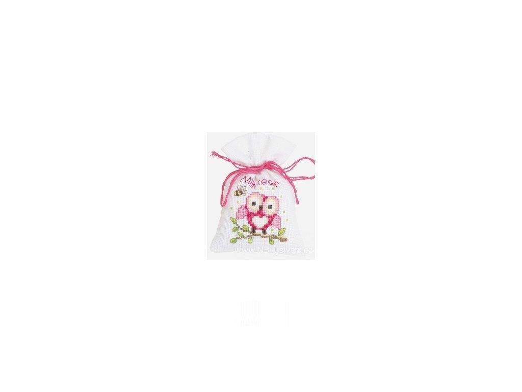 VE-PN0144375 Dekorační sáček - růžová sovička