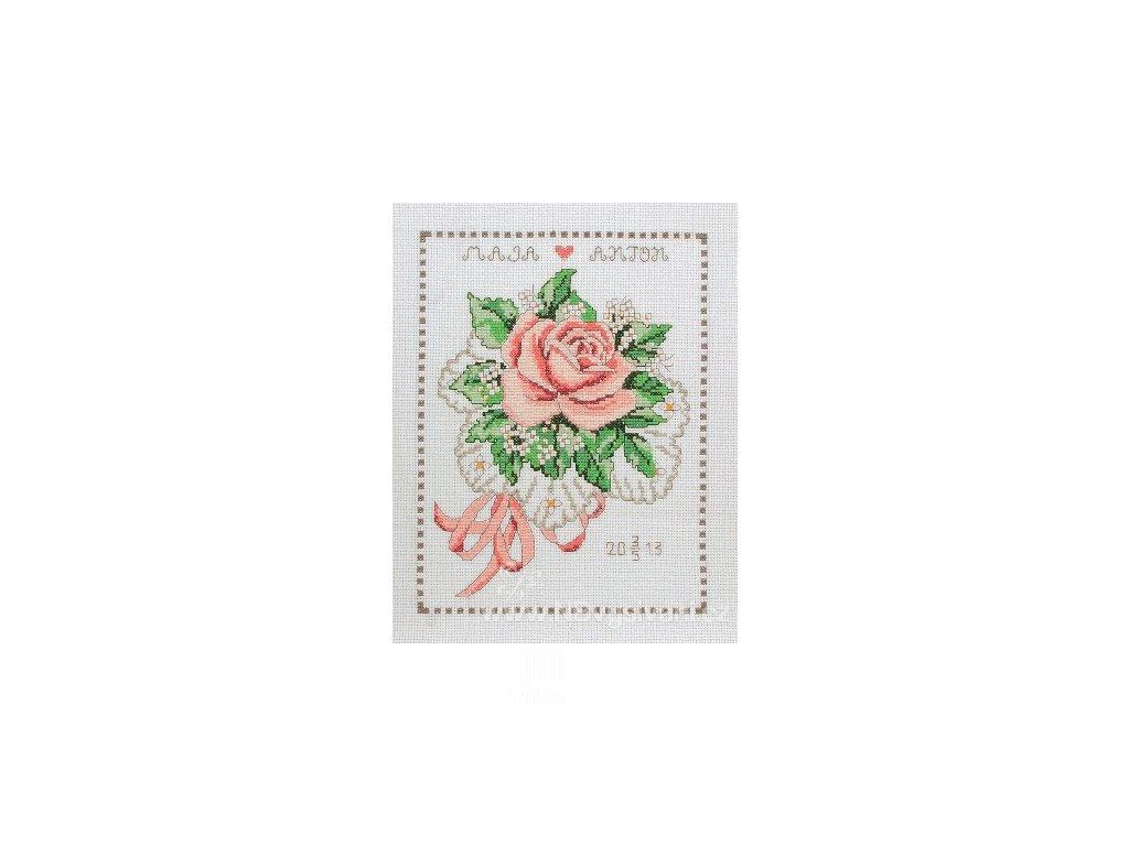 A-9240000-03102 Svatební oznámení s růží (doprodej)