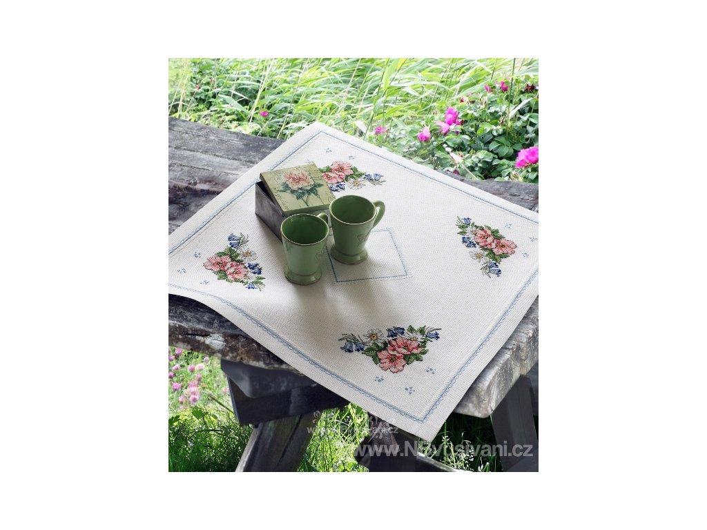 A-9240000-03303 Ubrus - květy (65x65cm)