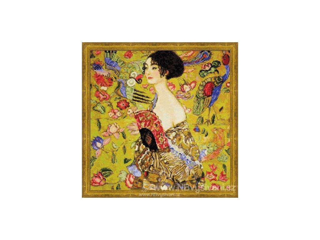 RIO-1226 Dáma s vějířem - Klimt