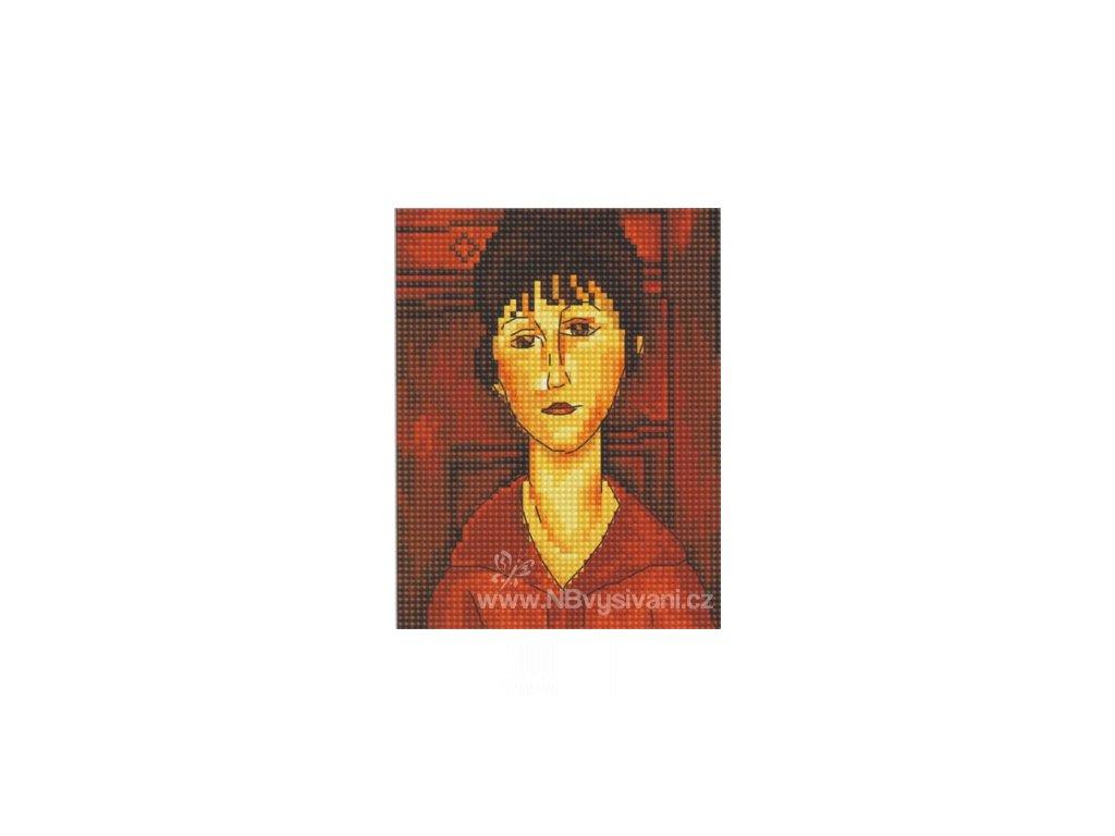 RT-EH337 Modigliani - Portrét dívky