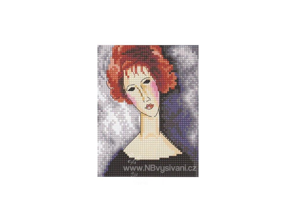 RT-EH335 Modigliani - Dívka se zrzavými vlasy
