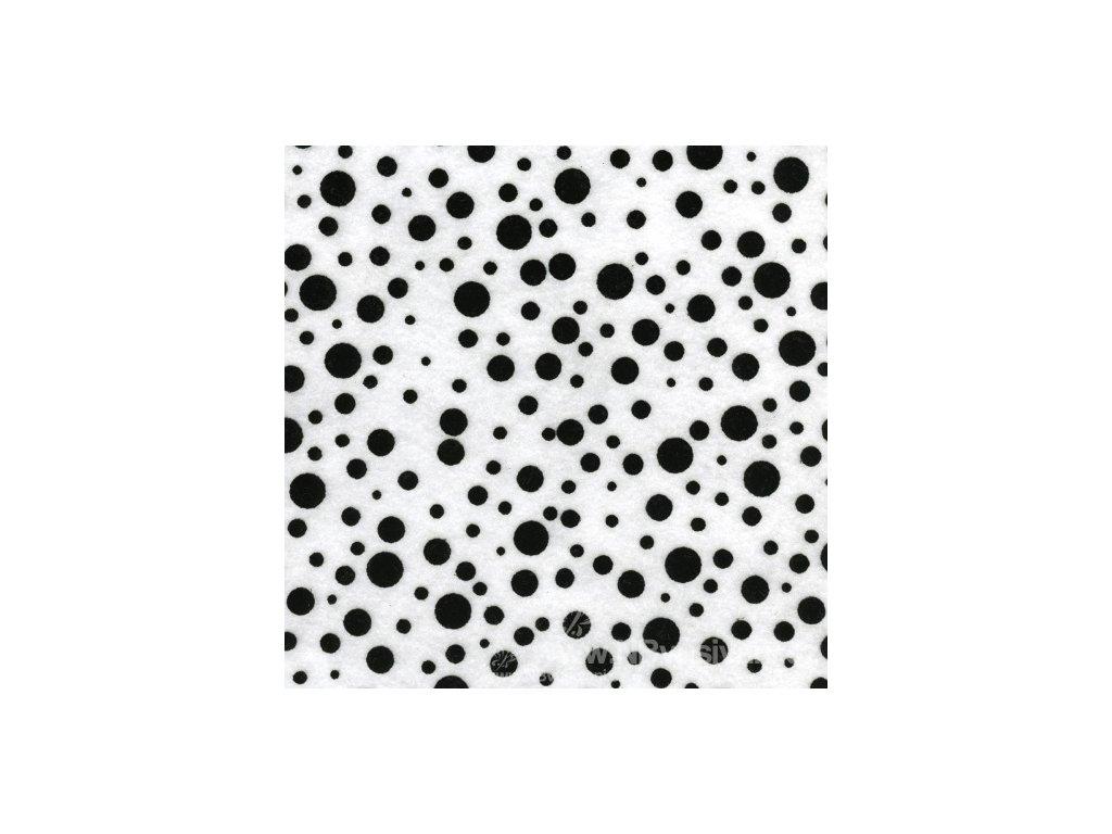 N-KBHT Filc - Random Dot-White W/Black Flock (30x23cm)