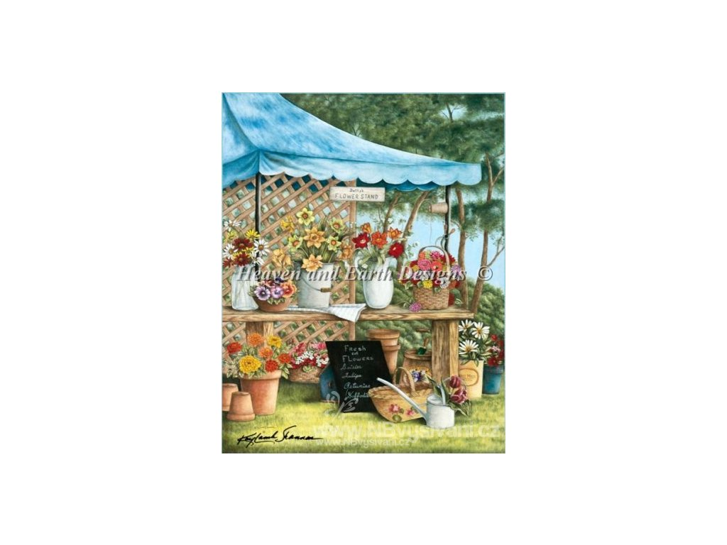 HAED - Betty's Flower Stand (Lugana 25ct)