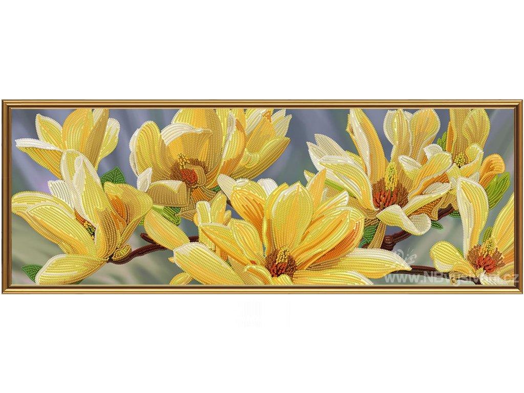 NS-DK1087 Zlatá magnólie (korálkové vyšívání)