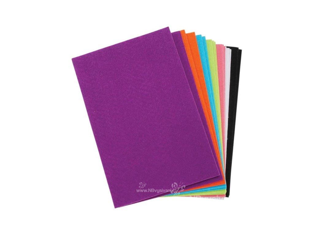 N-FLT0498 Samolepící filc - mix barev (18ks)