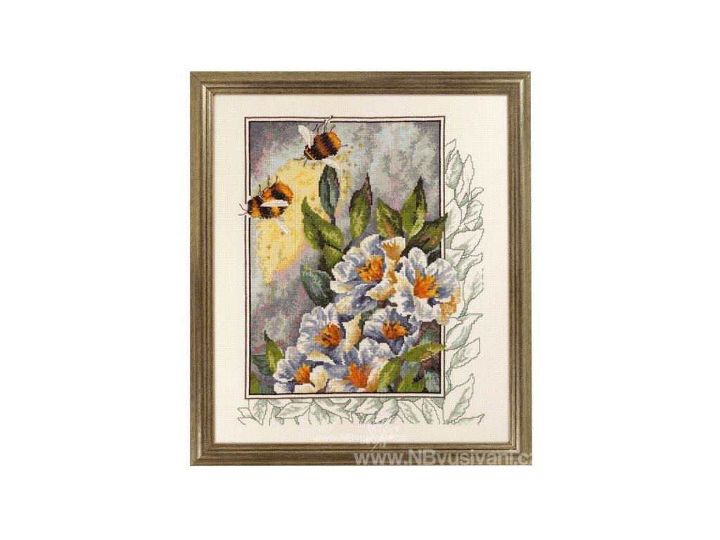PER90-4181 Čmelák a květy