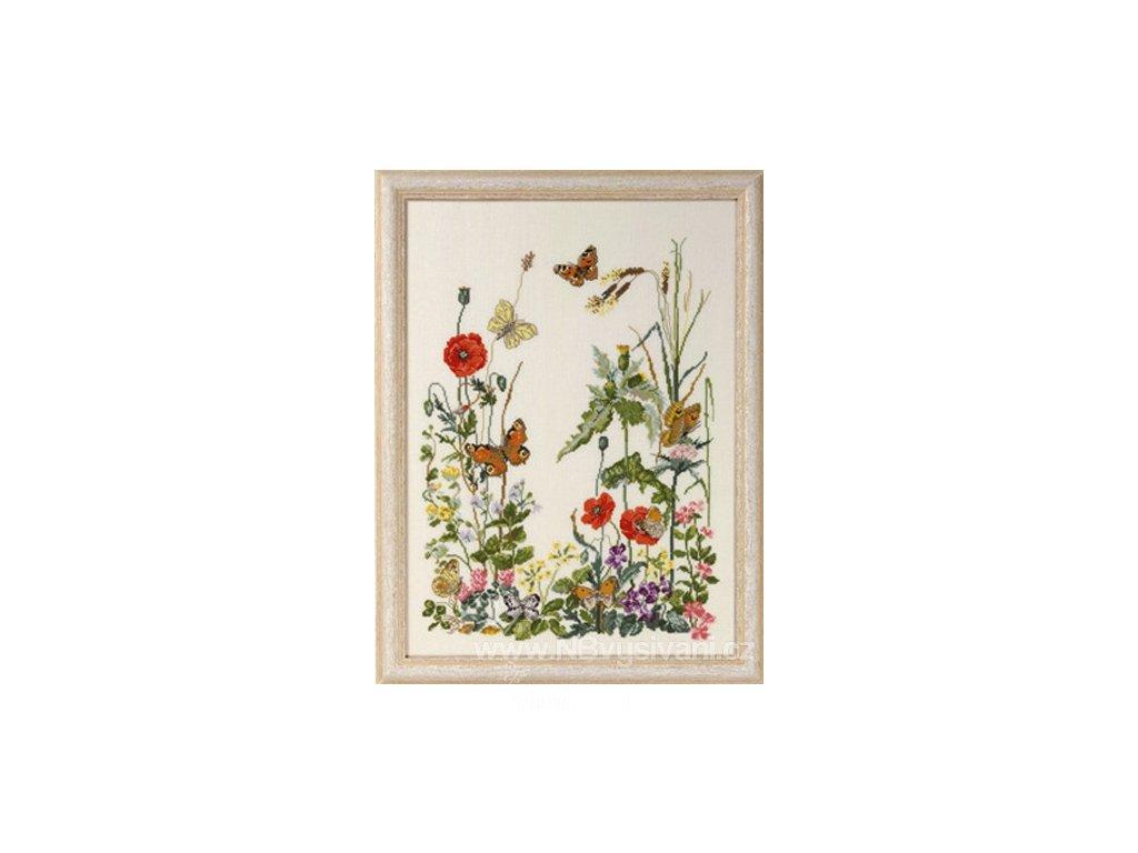 PER90-4151 Louka a poletující motýli
