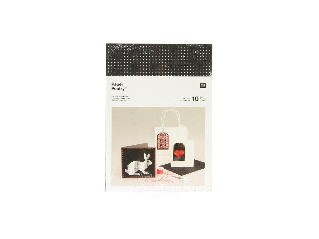 RICO-08792.78.72 Papír pro vyšívání - černý (10ks)