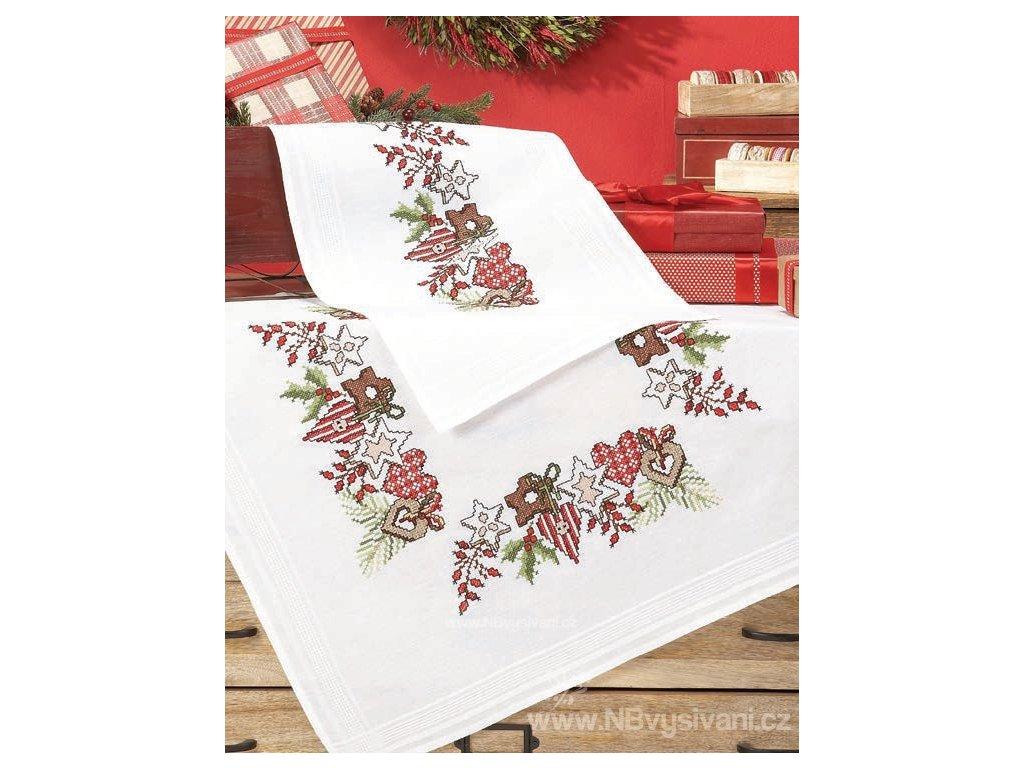 DUF5074 Vánoční ubrus s perníčky (80x80cm)
