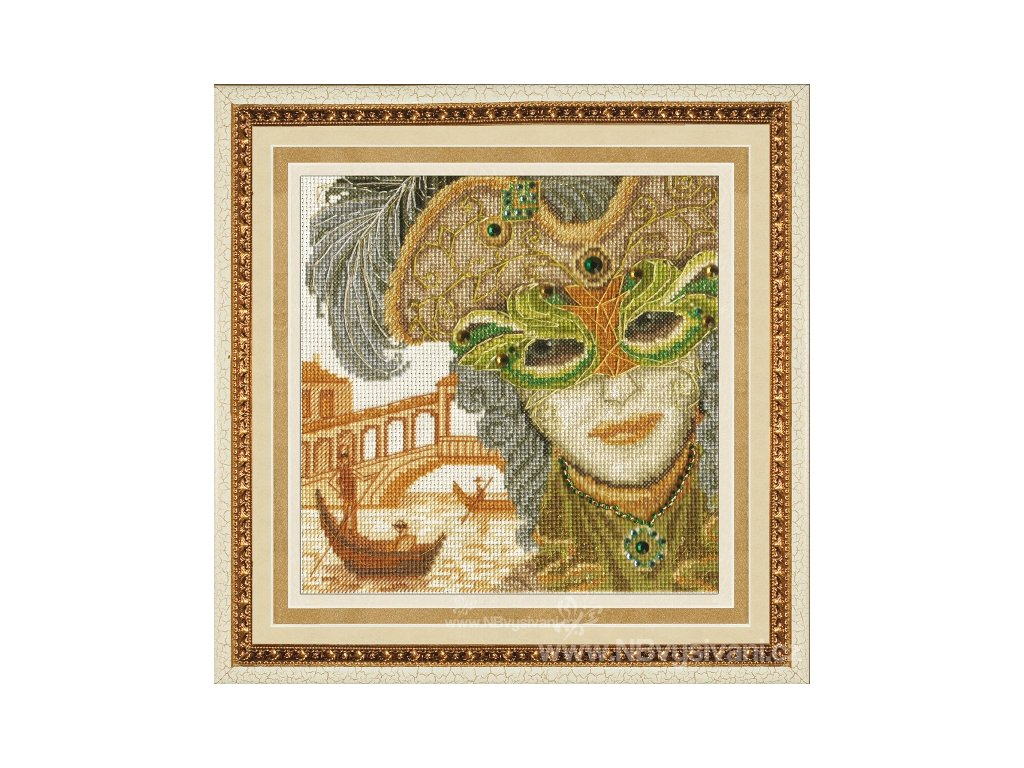 ZLR-M013 Benátská maska - On