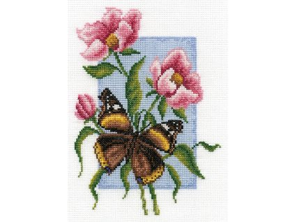 PAN-B0115 Motýl a květy