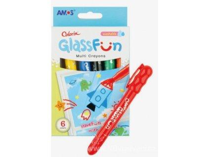 AP1509 Barvy na sklo Glass Fun smývatelné (6ks)