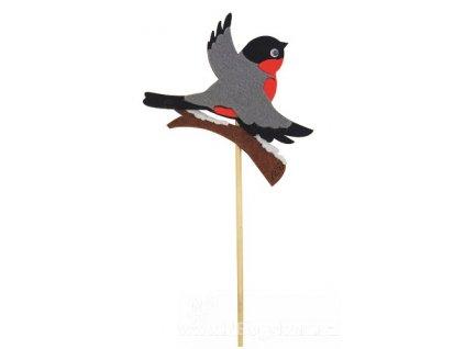 AP5877B Filcový ptáček na špejli (8cm)