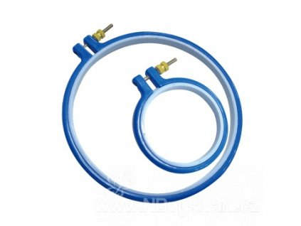 RR-PH3 Plastový kruh na vyšívání modrý (7,5cm)